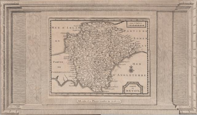 at a recent auction i was able to obtain a copy of the exceedingly rare version of van den keeres map of 1648 but issued much later by van der aa in